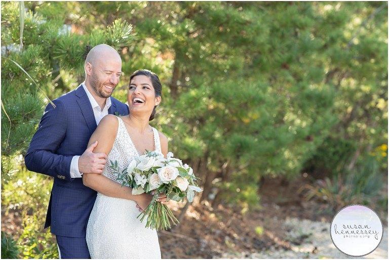 Bride and groom portraits at Long Beach Island Microwedding