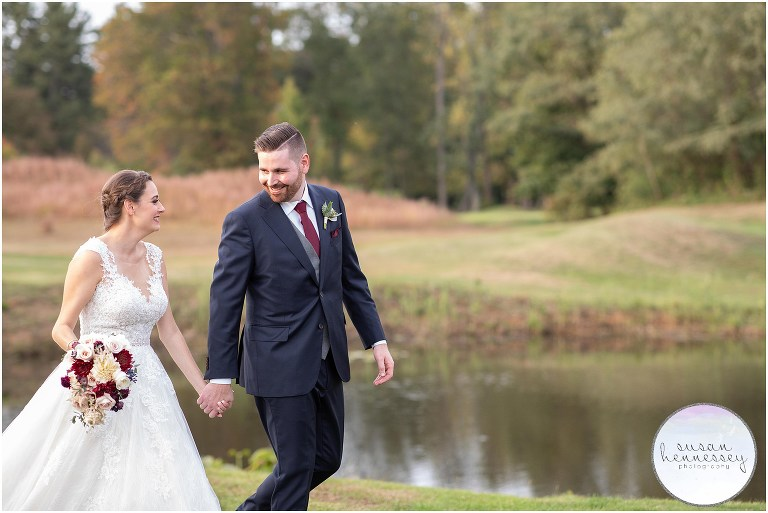 Candice and Jon had a Fall Wedding at Old York Country Club