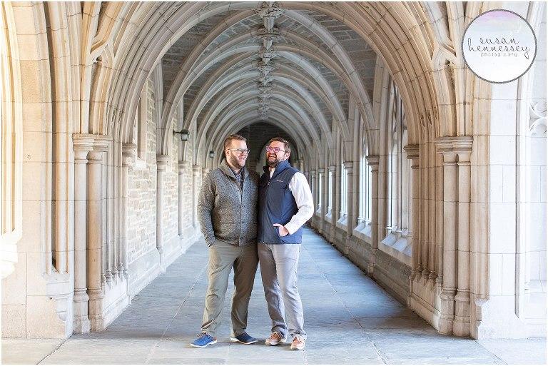 Same sex Engagement Session at Princeton University