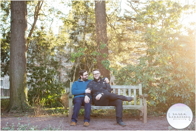 Engagement Session at Princeton University photographed in the gardens
