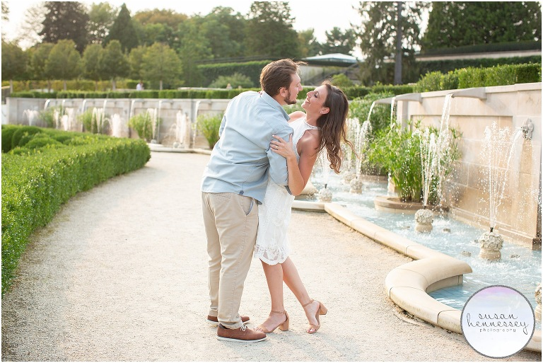 A summer Engagement Session at Longwood Gardens