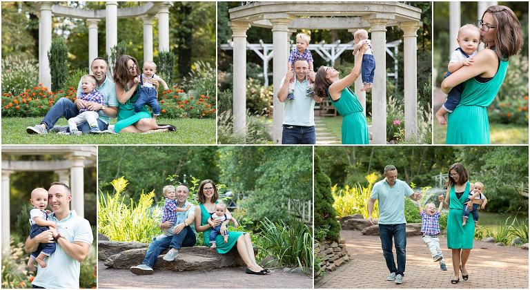 South Jersey holiday family photo sessions photographed at Sayen Gardens