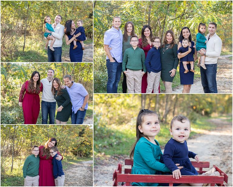 An extended family session at a South Jersey holiday family photo session