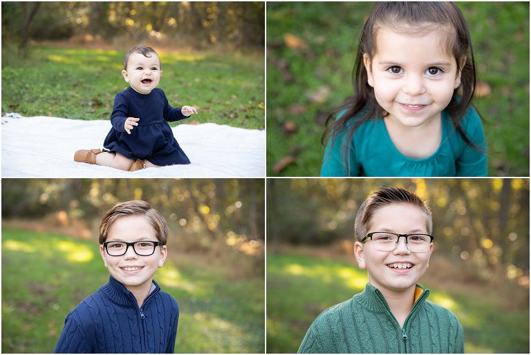 An extended family session at a South Jersey holiday family photo session in Moorestown, NJ