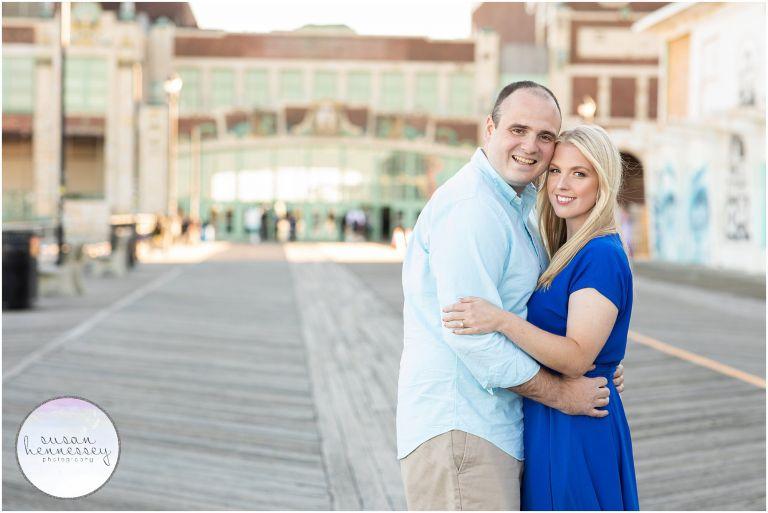 Boardwalk photos at Engagement Session at Asbury Park