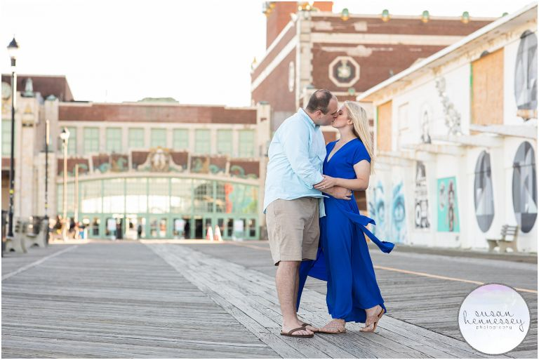 Engagement Session at Asbury Park on the boardwalk