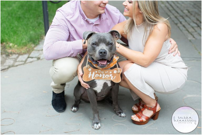 """""""Dog of Honor"""" at Princeton Engagement Session"""
