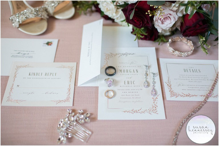 Susan Hennessey Photography Best of 2020 Weddings - The Merion in Cinnaminson Bridal details