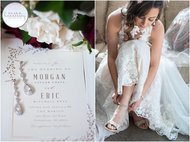 Susan Hennessey Photography Best of 2020 Weddings - The Merion in Cinnaminson Bridal details and bride getting dressed