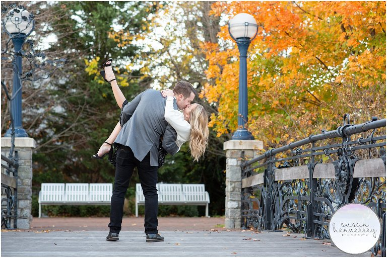 Downtown Frederick Engagement Session photographed in the Fall by Susan Hennessey Photography