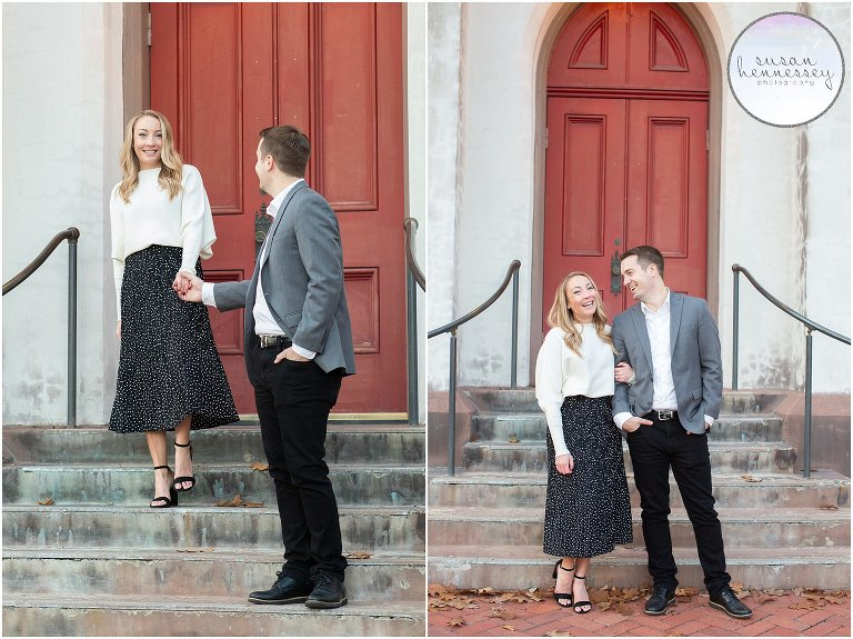 Kristen & Dave's Downtown Frederick Engagement Session