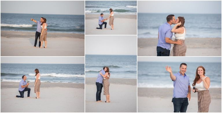Surprise proposal at the Jersey Shore