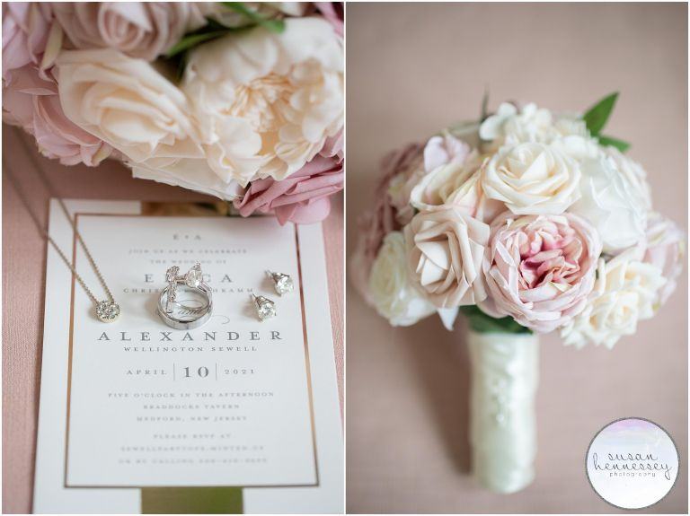 Planning a Micro Wedding? Erica and Alex had a dusty pink color palette.