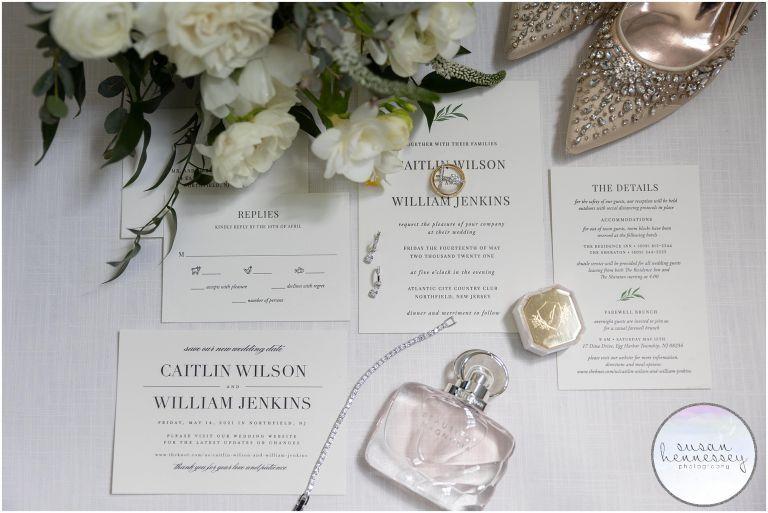 Bridal details at Atlantic City Country Club Wedding