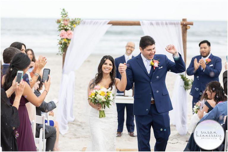 Bubble exit at ICONA Avalon Wedding ceremony