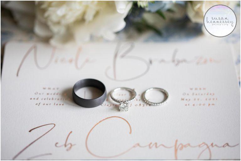 Bridal details at South Jersey Backyard Wedding
