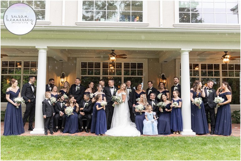 Wedding at The Bradford Estate with bridal party