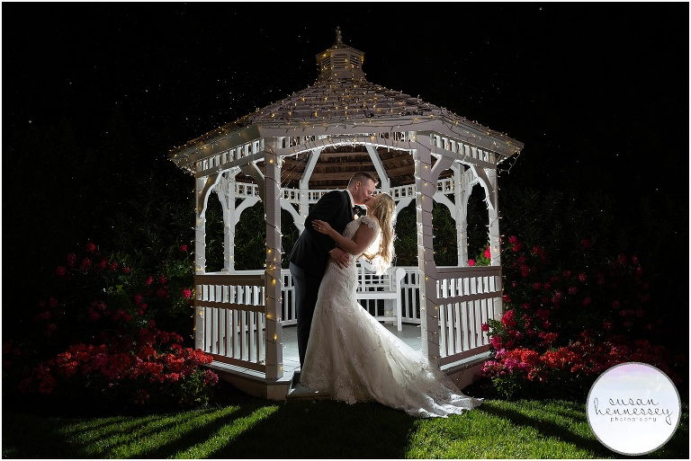 Wedding at The Bradford Estate ended with a romantic night shot in the rain